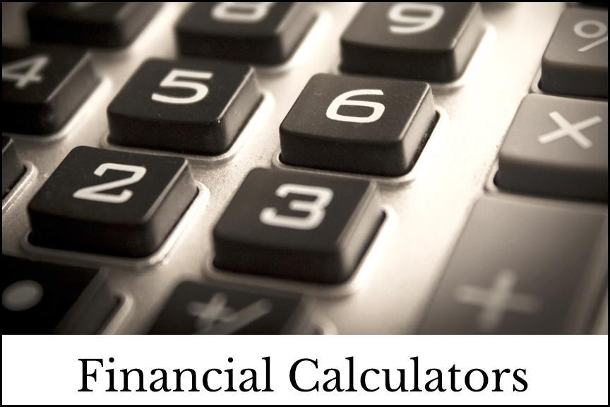 Financial Calculators Image with outline